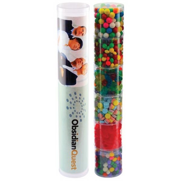 Item #TS6-A-CANDY Six Tube Stack with Candy