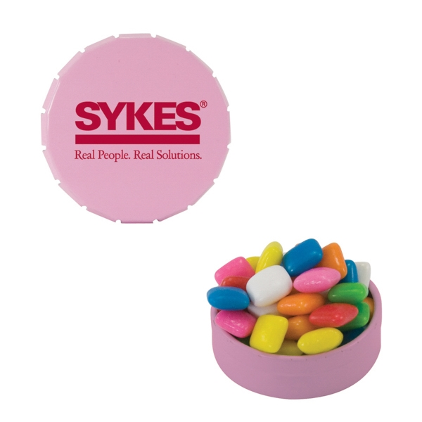 Item #SST15-GUM Small Snap-Top Tin with Chicle Chewing Gum