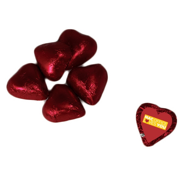Item #CHOC-HEARTS Individual Chocolate Candy Hearts