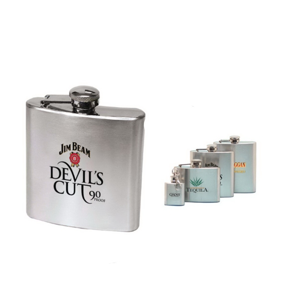 Item #AD-625 6 oz stainless steel hip flask