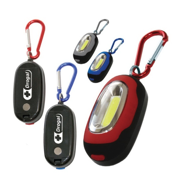 Item #AD-9393 Super-Bright COB LED Carabiner Utility Light