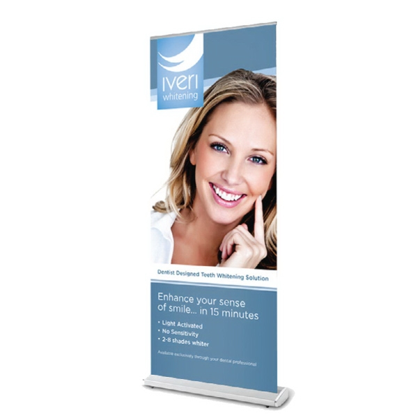 "Item #AD-RET4778 47"" x 78"" Retractable Banner with Stand"