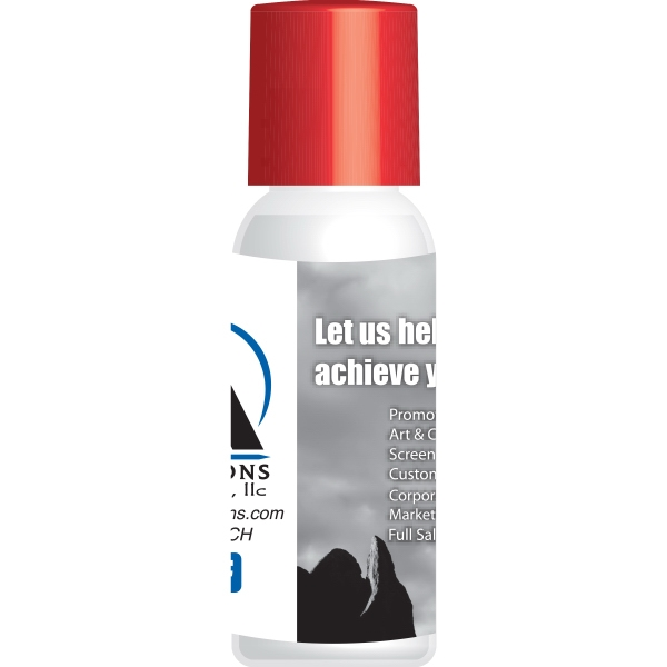 Item #HS01-HAND-FD 1 oz. Antibacterial Hand Sanitizer with White Cap