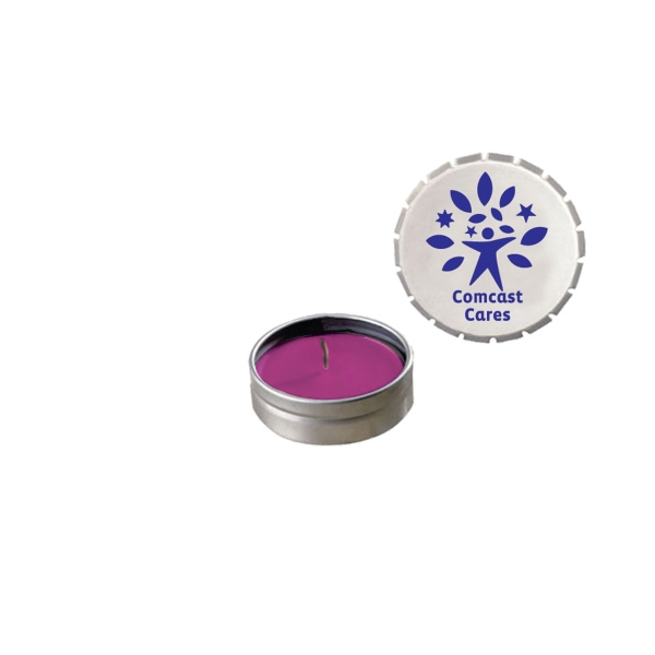 Item #STC03S-CANDLE Eco Friendly Soy Candle In Snap-Top Tin