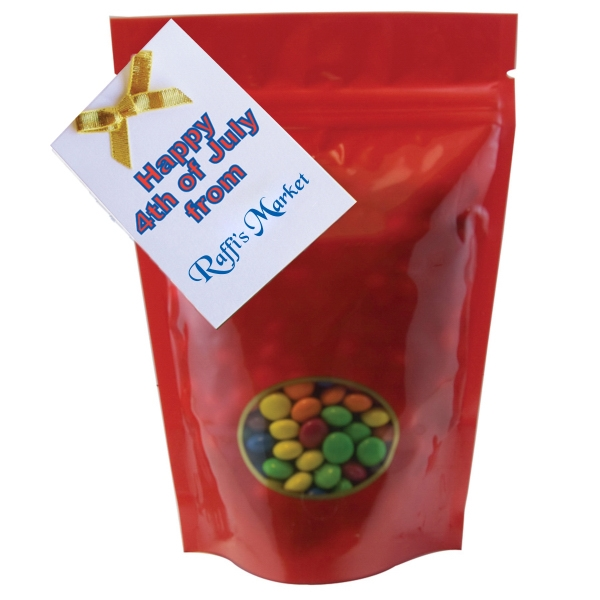 Item #WB2-CANDY Window Bag with Chocolate Littles Compare to M&M(r) Candy