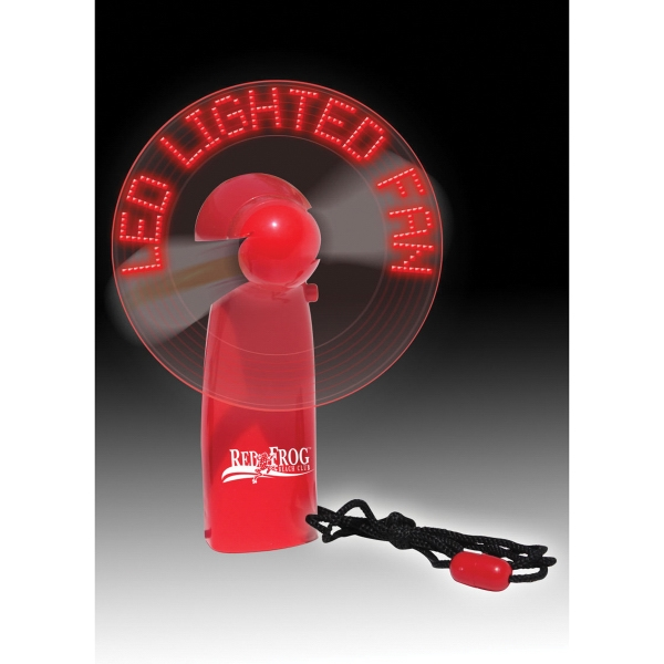 Item #451 LED Message Fan - Portable Electronic Lighted Billboard