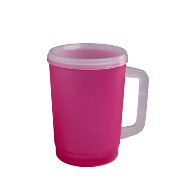 32 Oz Insulated Mug With Flip Sip Lid Amp Straw Item 998