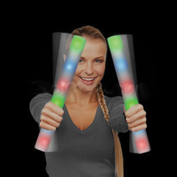 Item #Z553-B BLANK LED Foam Stick Baton Supreme - Rainbow