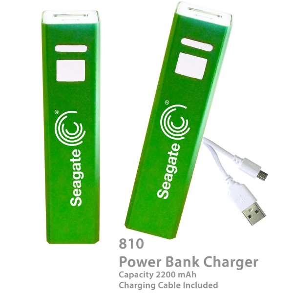Item #CHARGER E810DB Superior 2200 mAh Power Bank Portable Charger E810-Green