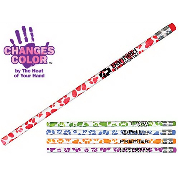 Item #20553 Paw Print Mood Pencil
