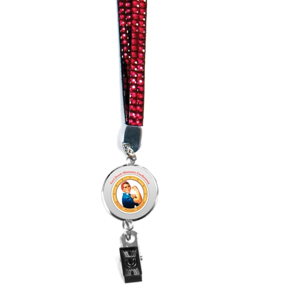 Item #80-42905 Blingyard With Retractable Badge Holder,Full Color Digital