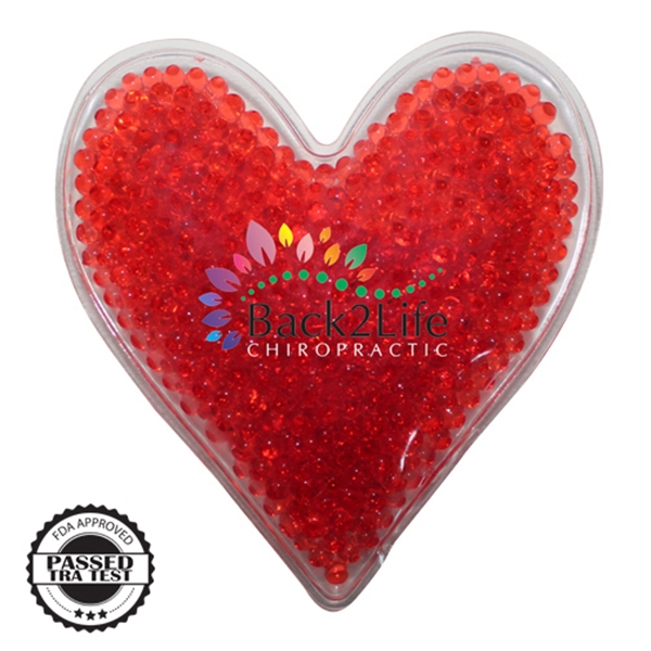 Item #80-43181 Heart Gel Bead Hot/cold Pack,Full Color Digital