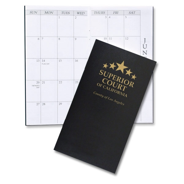 Item #1612 Monthly Pocket Planner (Leatherette)
