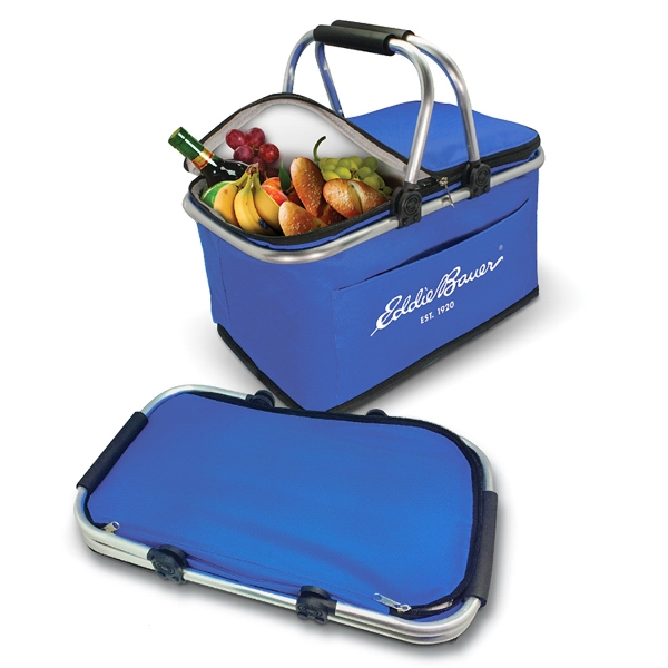 Item #PB017 Collapsible Insulated Picnic Basket