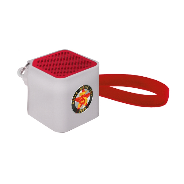Item #80-44530 Bluetooth Cube Speaker with Cable, Full Color Digital