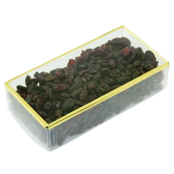 Item #PBG8E-FRUIT Golden Favorites Acrylic Box with Dried Fruit Mix
