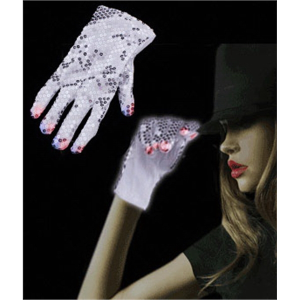 Item #A18 LED Sequin Rockstar Glove - Right Hand