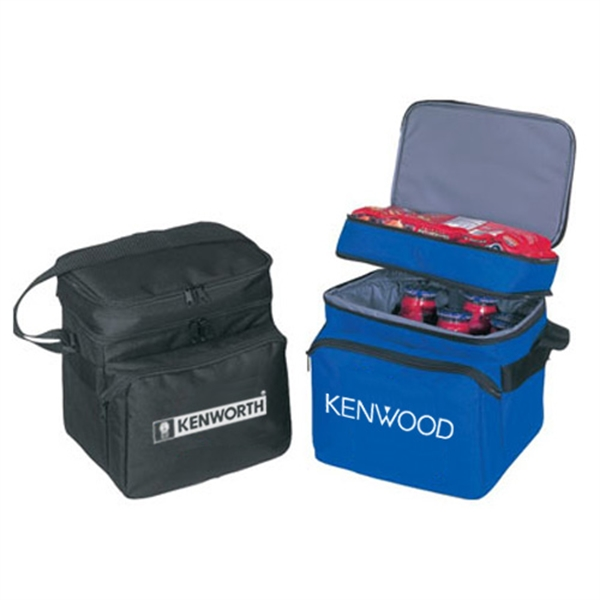 Item #B-8501 Deluxe Double Compartment Cooler Lunch Bag