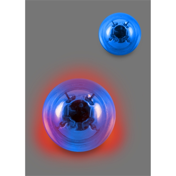 Translucent Bounce 'n Blink Lighted Ball with Two Red LEDs