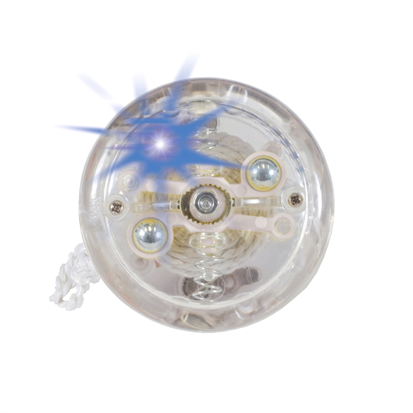 Crystal Clear Lighted Yo-Yo with Flashing Blue or Green LEDs