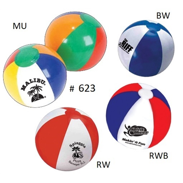 "Beach Balls 12"", 16"", 20"", 24"" - Official Size & Variety"
