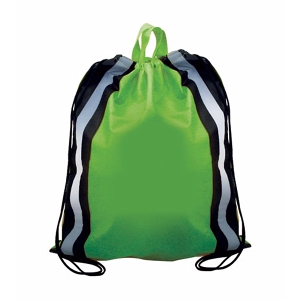 Item #80-59030 NW Reflective Drawstring Backpack, Full Color Digital