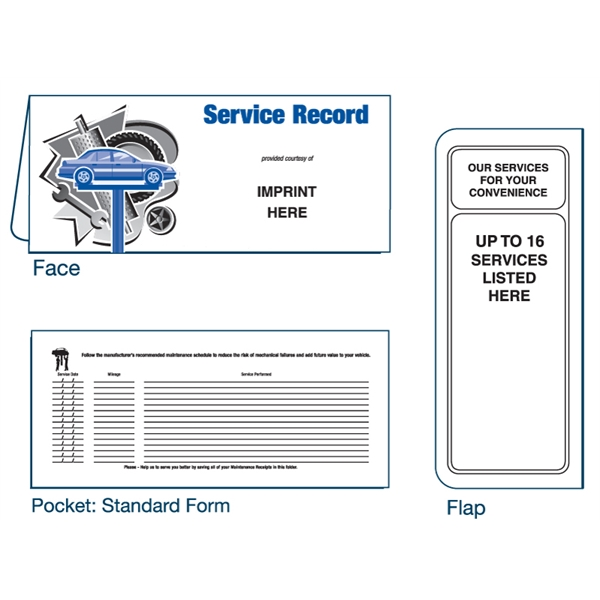 Item #01-01-090 Auto Service Record document folder