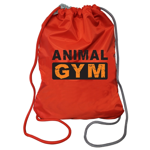 Item #80-60060 Two Tone Drawstring Backpack, Full Color Digital