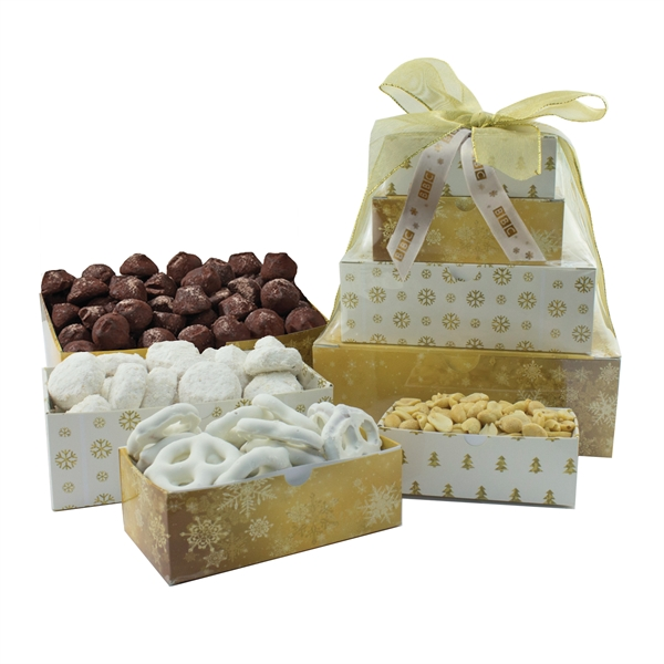 Item #TT4-A-TOWER Four-Tier Tower - Bakery, Peanuts, Truffles