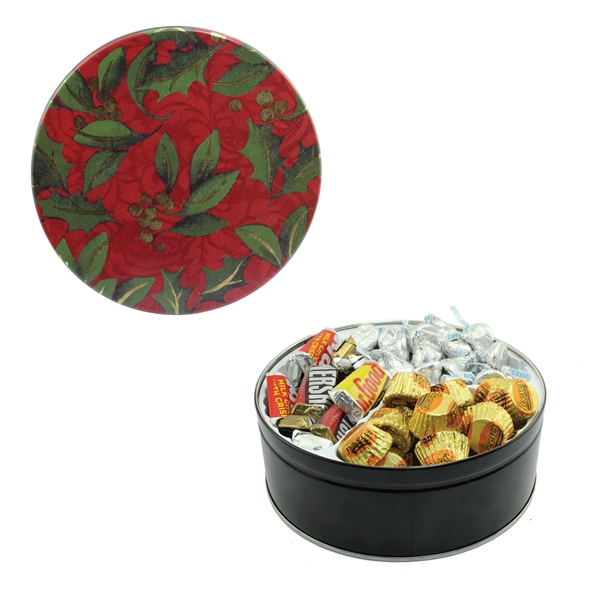 Item #GT2 Tin With Cookies, Mints, Candy, Nuts, Pretzels, Chocolate