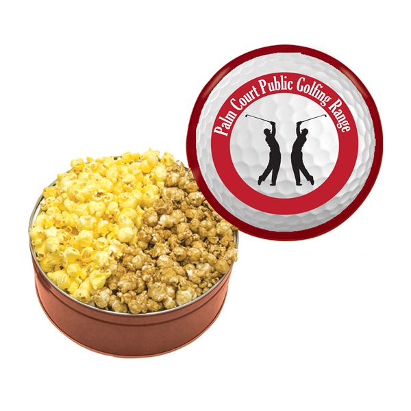 Item #GT3 Tin With Popcorn, Chocolate Chip Cookies, Meat & Cheese Set