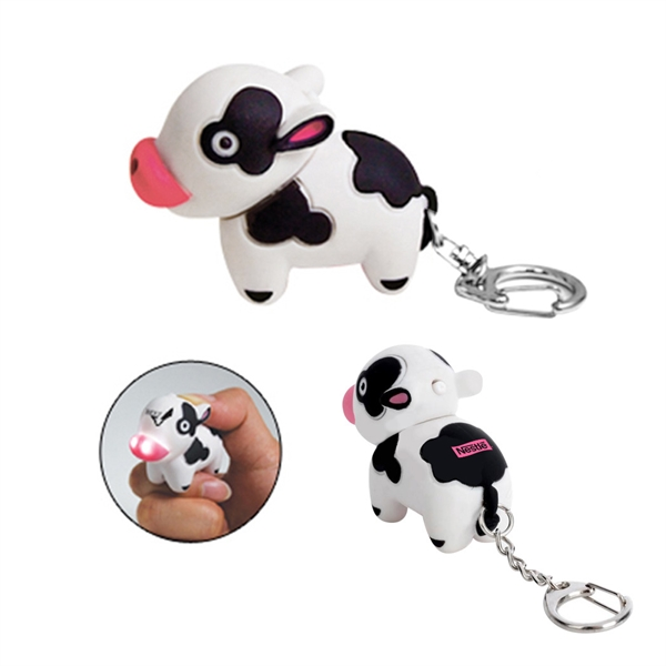 Item #KY-3088 Cow Key Light Keychain
