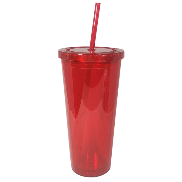 Item #CP023 20 oz Colored Double-Wall Acrylic Tumbler