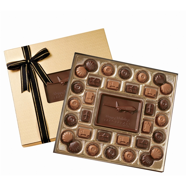 Item #TR16 Medium Custom Molded Chocolate Delights Gift Box