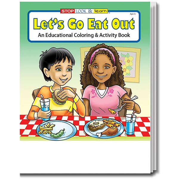 Item #0577FP Let's Go Eat Out Coloring Book Fun Pack