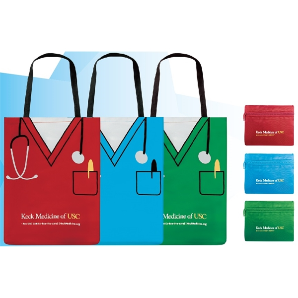 Item #AW-491 Scrubs Shirt Fold-able Tote Bag