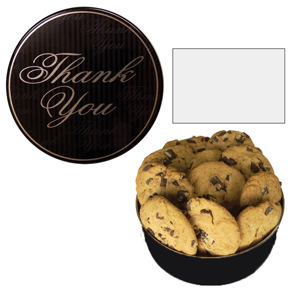 Item #GT2-TY-GIFTS The Royal Cookie Christmas Tin - Thank You Design - Cookies