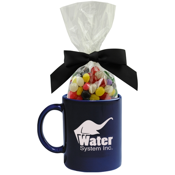 Item #MUG-SC-JELLY Ceramic Mug Stuffer with Jelly Beans Candy