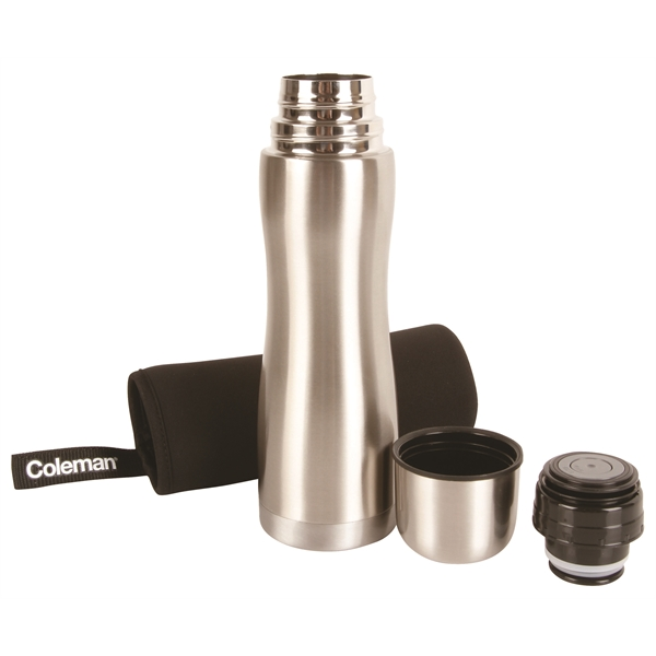 Item #227438 .5L Vacuum Bottle with Sleeve - Stainless Steel (1 Pint)