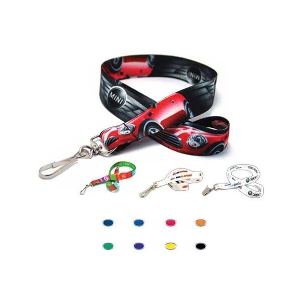 Item #4-SUBL-3D Digitally Sublimated Lanyard w/ 3 Day Service