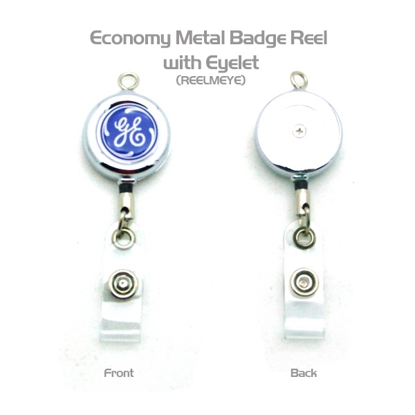 Item #REELMEYE Metal Badge Reel w/Top Eye Loop