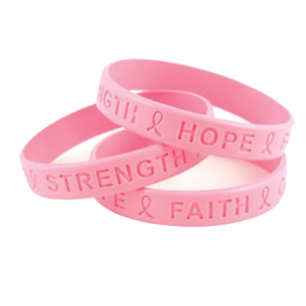 Item #SILIBAND-DBA Breast Cancer Awareness Debossed SiliBand