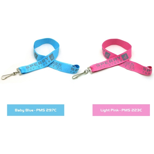 "Item #SSFLT-IMP1 Air Imported 1"" Silkscreened Flat Lanyard"