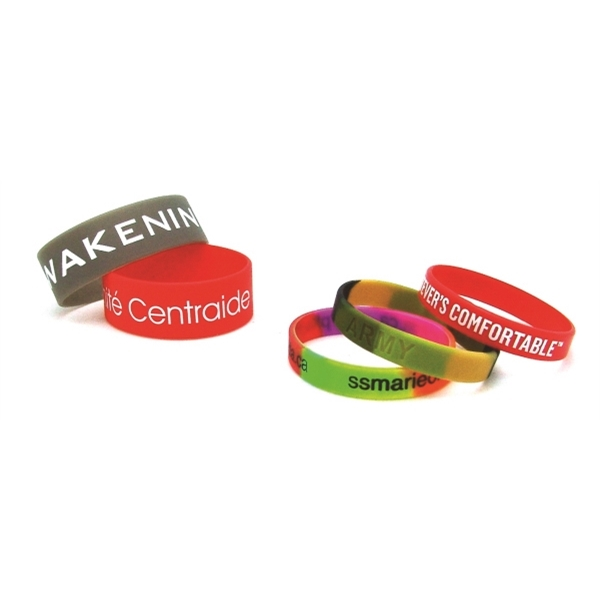 Item #SILIBAND-P Recycled Silicone Wrist Band w/Printed Logo