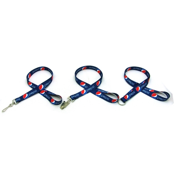 "Item #SUBL-IMP12 Air Imported 1/2"" Digitally Sublimated Lanyard"