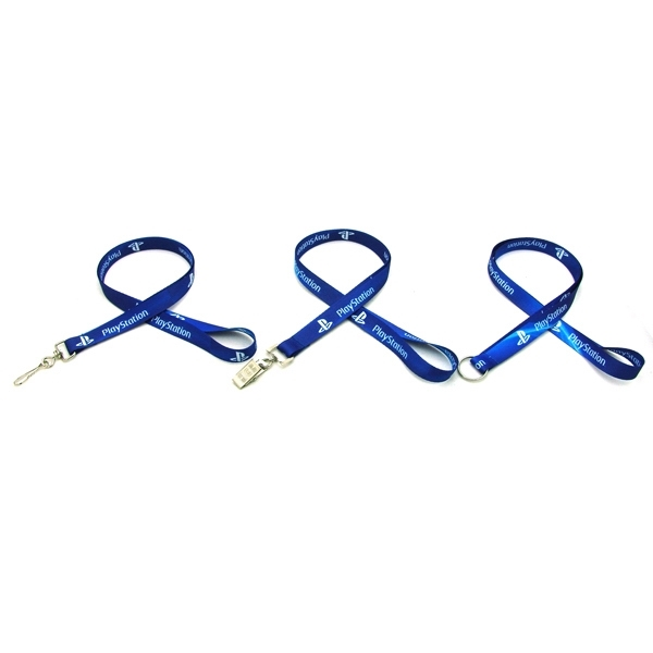 "Item #SUBL-IMP58 Air Imported 5/8"" Digitally Sublimated Lanyard"