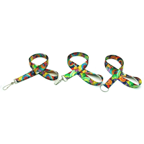 "Item #SUBL-OCN78 Ocean Imported 7/8"" Digitally Sublimated Lanyard"