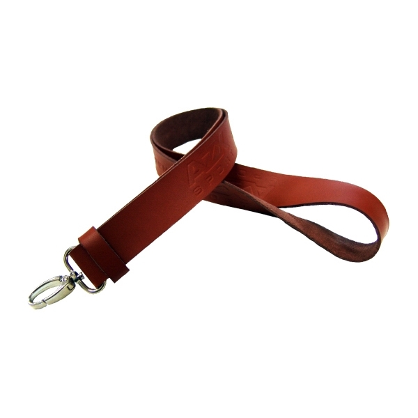 "Item #LETHR-34 3/4"" Genuine Leather Lanyard"