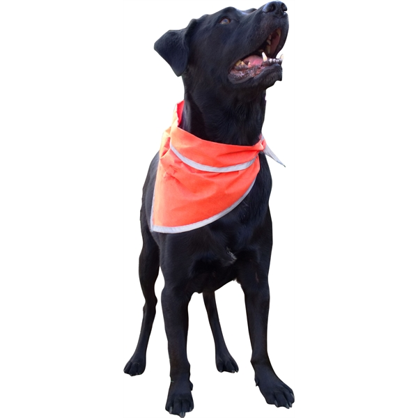 Item #BA055 Pet triangle bandanna with reflective binding- Large