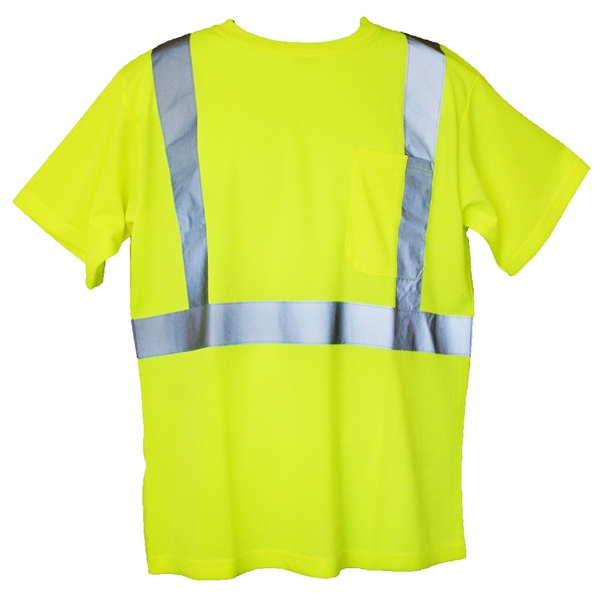 Item #SFT06 2XL/3XL Yellow Short Sleeve Hi-Viz Safety T-Shirt